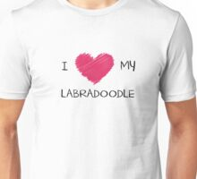 I Love My Labradoodle Heart Shirt For Dog Lovers Unisex T-Shirt