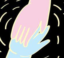 Hand Holding Sticker