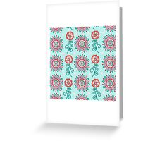 Floral Frost Greeting Card