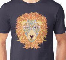 colorful head of lion Unisex T-Shirt