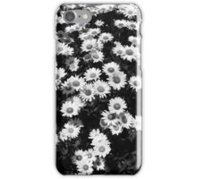Rest Stop Daisies 1 BW iPhone Case/Skin