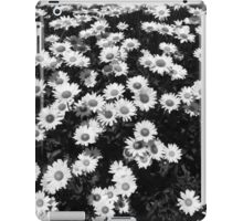Rest Stop Daisies 1 BW iPad Case/Skin