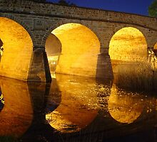 Richmond Bridge, Tasmania (night) by gaylene