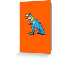 Pixevolution - Tyrannosaurus Macaw  Greeting Card