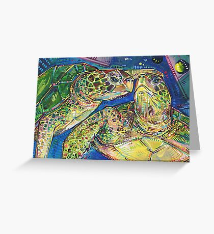 Turtles two painting - 2016 Greeting Card