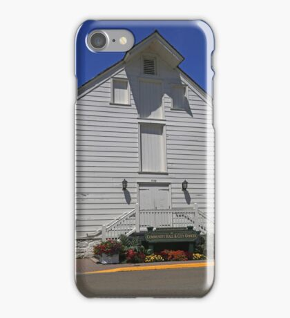 Community Hall Mackinac Island iPhone Case/Skin