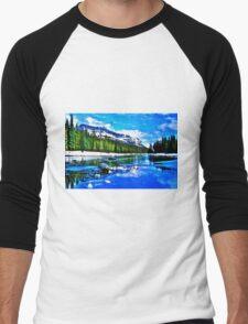Bow river and Castle mountain Men's Baseball ¾ T-Shirt