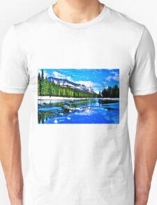 Bow river and Castle mountain T-Shirt