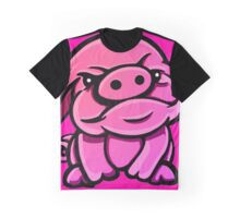 Defiant Pink Pig Graphic T-Shirt