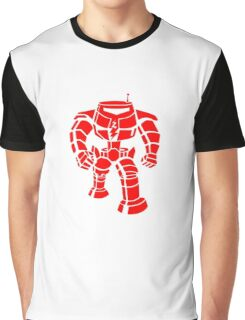 Manbot - Red Graphic T-Shirt