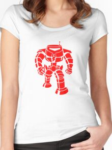 Manbot - Red Women's Fitted Scoop T-Shirt