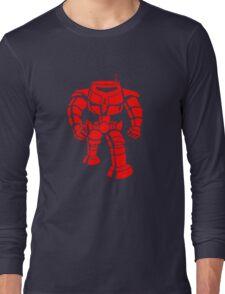 Manbot - Red Long Sleeve T-Shirt