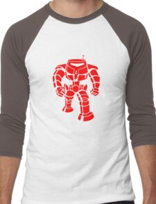 Manbot - Red Men's Baseball ¾ T-Shirt