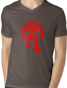 Manbot - Red Mens V-Neck T-Shirt