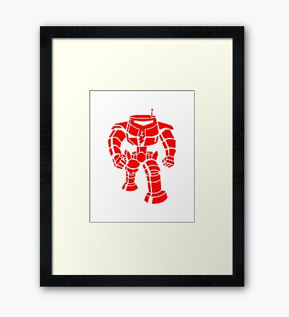 Manbot - Red Framed Print