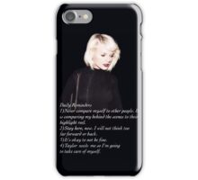 Taylor Swift- Daily Reminders iPhone Case/Skin