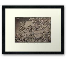 Gourami - Kissing Fish Framed Print