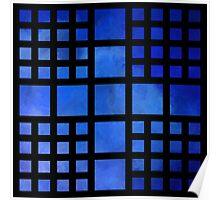 Cappanella V1 - blue squares Poster