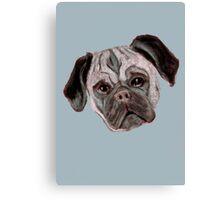 Pug - Cut Out Canvas Print