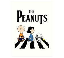 Peanuts Abbey Road Art Print