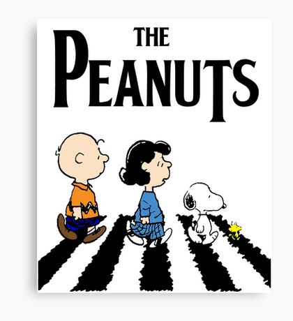 Peanuts Abbey Road Canvas Print