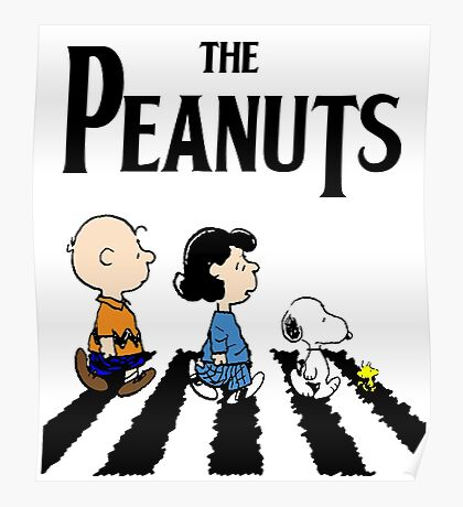 Peanuts Abbey Road Poster