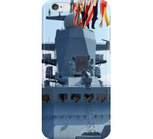 naval flags on a warship iPhone Case/Skin