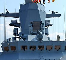 naval flags on a warship by mrivserg