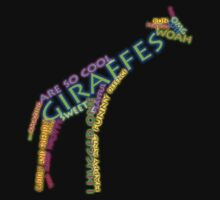 giraffe typography by xxnatbxx