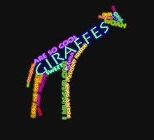 giraffe typography Mens V-Neck T-Shirt
