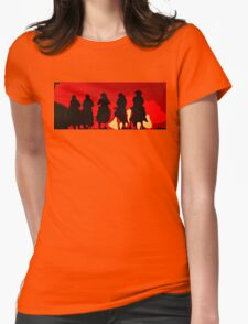 Riding out of the Sunset Womens Fitted T-Shirt