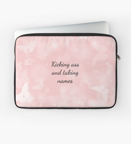 Life motto in pink Laptop Sleeve