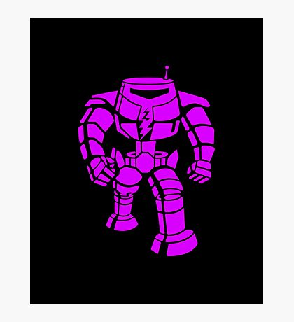 Manbot - Purple Variant Photographic Print