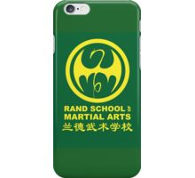 Rand School of Martial Arts Shirt iPhone Case/Skin