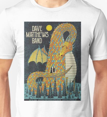 Dave Matthews Band, 2016, Saratoga Performing Arts Center, Saratoga Springs, NEW YORK Unisex T-Shirt