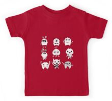 Black and white silly monsters Kids Tee