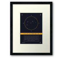 Cassiopeia Constellation Framed Print