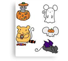 Halloween Mice! Canvas Print