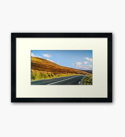 Gap Road Framed Print