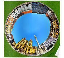 timisoara union square round panorama Poster