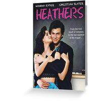 Heathers (1989) Movie Poster Greeting Card