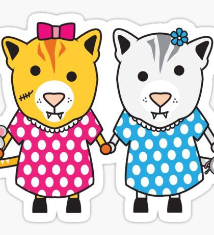 Miss Maple and Miss Neko Sticker