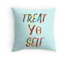 Treat Yo Self Theta Throw Pillow