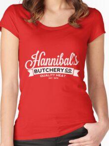 Hannibal's Butchery (LIGHT) Women's Fitted Scoop T-Shirt