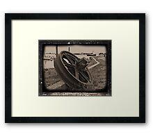 Rusty Wheel Framed Print
