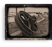 Rusty Wheel Canvas Print
