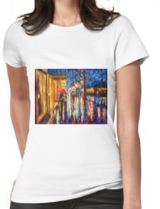 Love in the Rain (Digital Touch) Womens Fitted T-Shirt