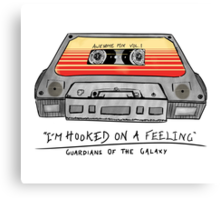 Awesome Mix Vol 1 Cassette Tape (Guardians of the Galaxy) Canvas Print