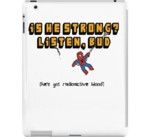 Can he swing, from a web? iPad Case/Skin