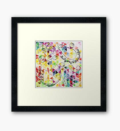 les légumes & fruits d'été Framed Print